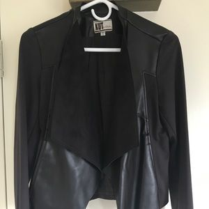Faux Leather + Suede Jacket - Perfect Condition